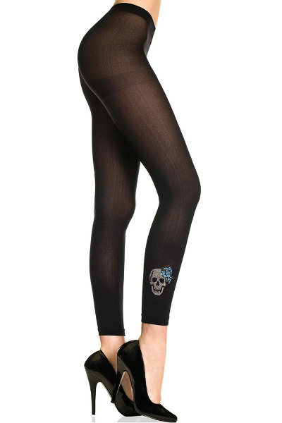 Music Legs Skull and Anchor Leggings Fashion ranges / Strumpbyxor.com