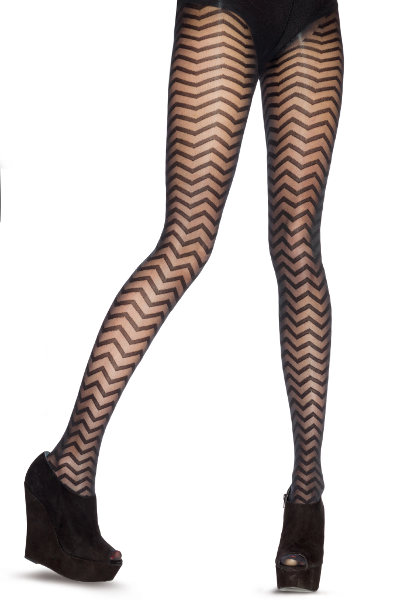 Pretty Polly House of Holland Zig Zag Tights Special Offer Fashion ranges / Strumpbyxor.com